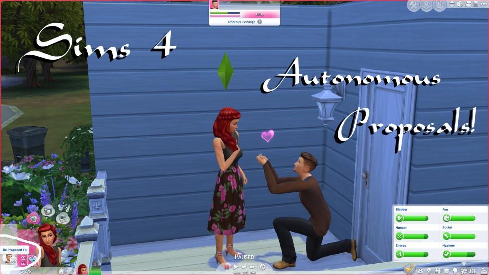 Sims 4: Autonomous Proposals & Breakups Mod – Polarbearsims Blog & Mods